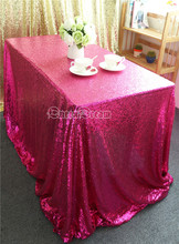 Hot Sale Shimmer Fabric Tablecloth For Pageant/Feast/Prom/Party Fuchsia  Wedding Tablecloth