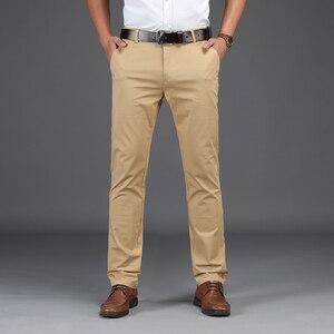 Image 2 - Брендовые мужские прямые брюки NIGRITY, новинка сезона осень зима 2020, деловые повседневные хлопковые брюки, мужские брюки большого размера 28 42