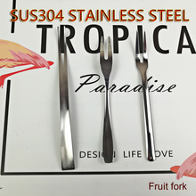 High-Grade Stainless Steel Tableware Originality Fruit Fork Childrens Dessert Eco-Friendly 304