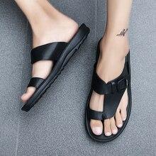 Мужские пляжные сандалии; коллекция года; летние мужские уличные сандалии-гладиаторы; мужская повседневная обувь в римском стиле; Вьетнамки; модные шлепанцы на плоской подошве размера плюс 46