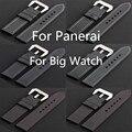Banda de lujo de 20mm 22mm 24mm 26mm De Fibra De Carbono Negro Correa de Reloj de Correa De PAM Y Grande reloj