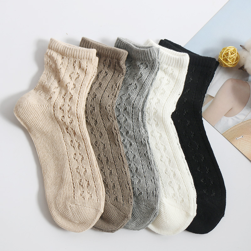 2 Pairs/Lot Women Spring/Summer Hollow Woollen Restoring Boots Short Socks Female Japanese Harajuku Style Thin White Chaussette
