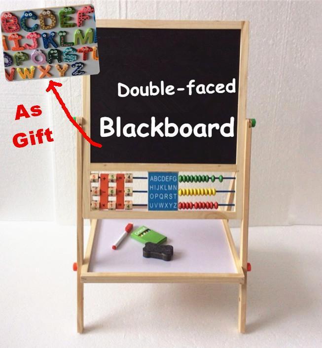 Bébé jouets Double face éducatif en bois tableau noir multifonction enfants tableau cadeau pour enfant grand envoi réfrigérateurs