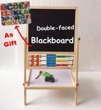 Baby Toys Double Faced Educational Wooden Blackboard Multifuncation Children Drawin Board Gift For Child Large Send Fridges