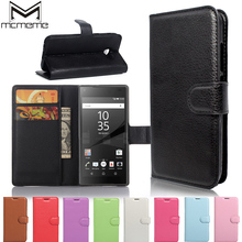 цена на MCMEME Luxury PU Leather Credit Card Wallet Flip Cover Case For Sony Xperia Z L36h Z1 Z2 Z3 Z5 Compact mini Phone Bag Cases Cove