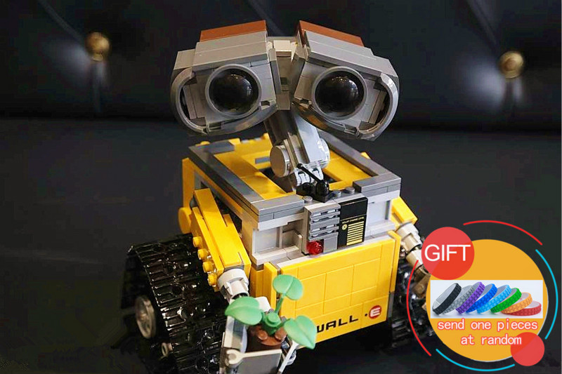 16003 687pcs Idea Robot WALL E Set Model Building Blocks Kits compatible with 21303 toys for children gift lepin idea robot building blocks wall e