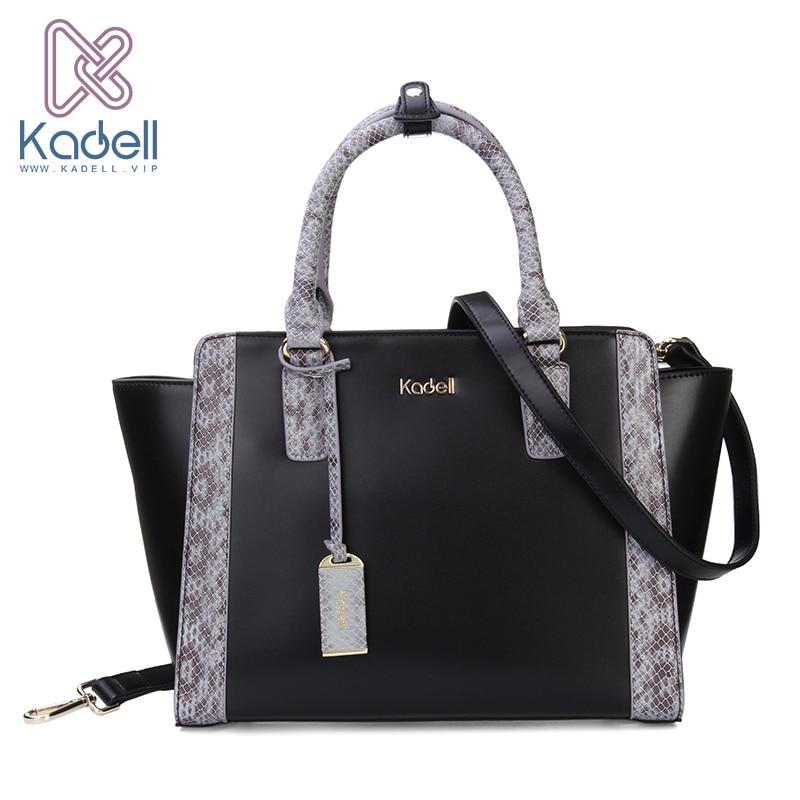 Kadell PU Leather Shoulder Bag Fashion Trapeze Women Messenger Bags Handbag Women Famous Brands Crossbody Bags For Women Pink