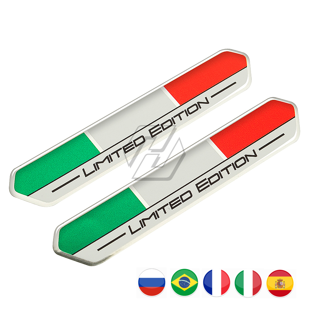Italy Flag Limited Edition Sticker Motorcycle Tank Decal Case For Ducati Aprilia RSV4 RS4 Car Styling Spain/Russia/Brazil/France
