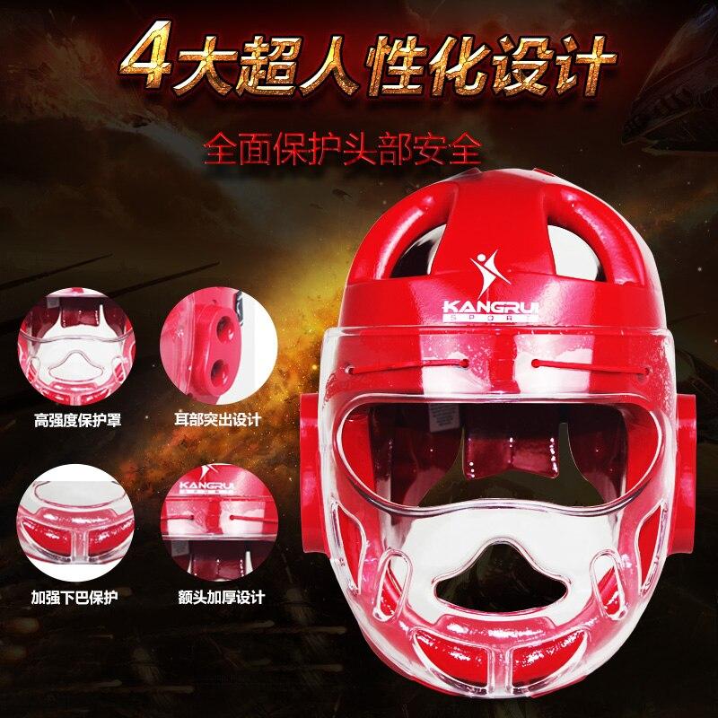 Бесплатная доставка взрослых детей каратэ шлем фитнес тхэквондо шлемы WTF протектор голо ...