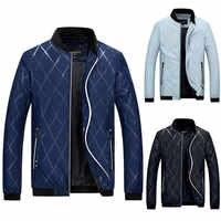 Drop Schiff marke neue und hohe qualität männer Jacke Mantel Stand Reißverschluss Kragen Fit Baseball Warm Winter Baumwolle Mischung jacketZ1031