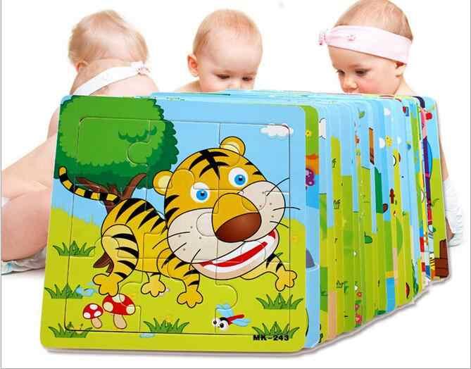 Продажа сверхновой головоломки Деревянные маленькие части детские игрушки детские деревянные развивающие головоломки игрушки для детей