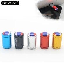 DSYCAR 4Pcs/lot Universal Russian flag Car Moto Bike Tire Wheel Valve Cap Dust covers Car Styling for Fiat Audi Ford Bmw toyota