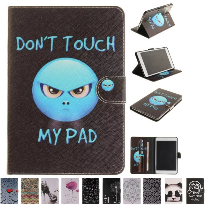 New Arrival Color Mix PU Leather Flip Painting Cover For Apple iPad Mini 1 2 3 Cases W/Stand Cover For ipad Mini 3 2 Tablet case