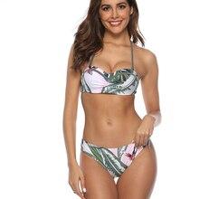 2019 Sexy Women Bikini Swimwear Push Up Swimsuit Bandage Bikini Set Brazilian Summer Beach Bathing Suits Women Fashion Print цена