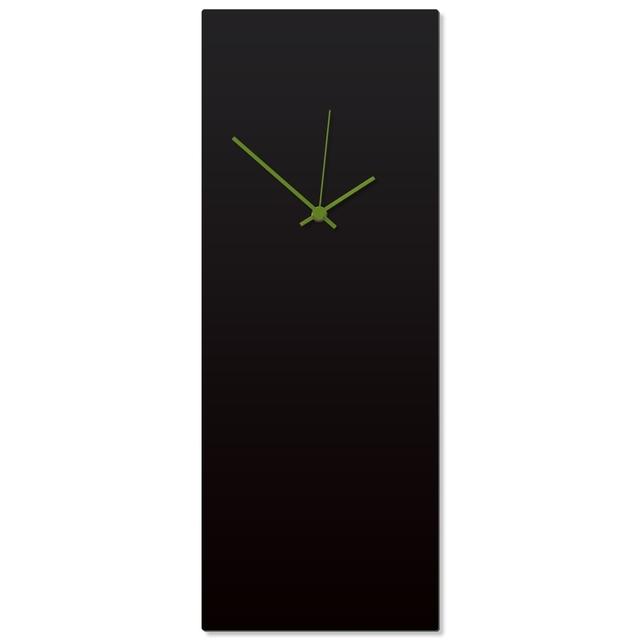 Blackout Green Clock Large