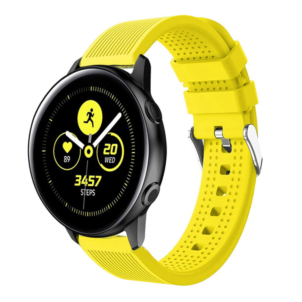 Image 3 - Silicone Watchband Active 20mm Silicone Strap Straight striped Silicone Watchband For Samsung Galaxy Watch-in Smart Accessories from Consumer Electronics