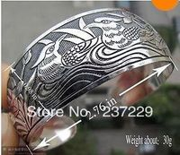 Wholesale Price SHIPPING 10pcs XSZ01428 Cute Carved Tibet Silver Bangle Bracelet Jewelry