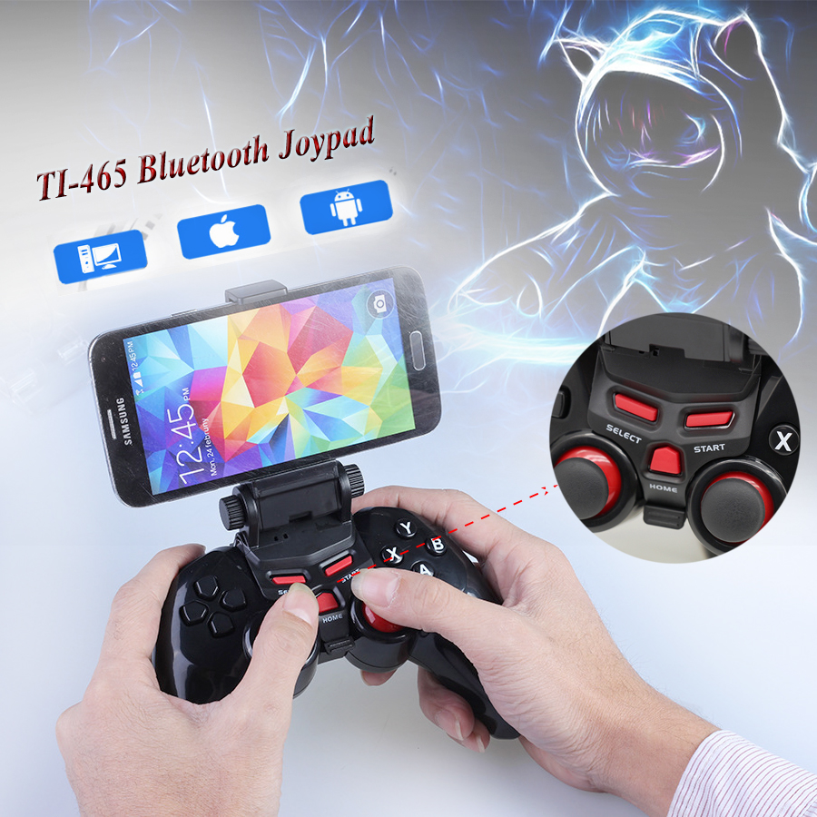 TI-465 Joystick TI 465 Bluetooth Wireless Game gamepad Controller Joypad for Android IOS Apple Smart Mobile Phone Tablet PC
