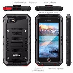 Image 4 - IP68 防水ケース iphone XS 最大ケース防水耐衝撃ヘビーデューティダイビングケース iphone XR ハード鎧水密封された