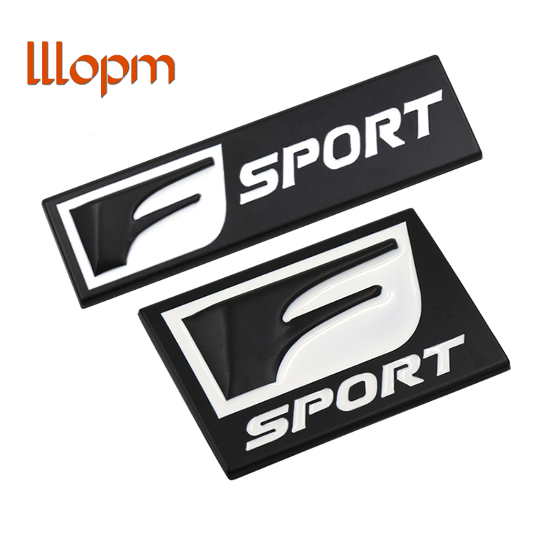 2018 F Sport 3D Metal Badge Decal Rear Trunk Emblem Sticker for Lexus IS ISF GS RX RX350 ES IS250 ES350 LX570 CT200 Car-Styling