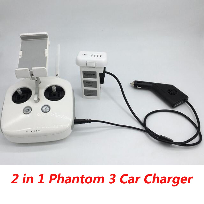 цены DJI Phantom 3 Car Charger Battery&Remote Control Charger 17.5V 4A 70W Output Battery for dji Phantom 3 4K Advanced Professional