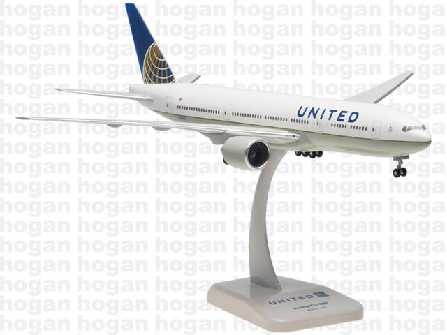 United Boeing 777-200 Hogan 1:200 United Airlines N204UA aircraft model