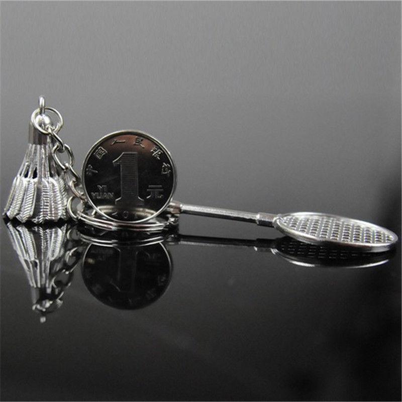 cool key chains keychain keyfob keyring creative 3d model badminton