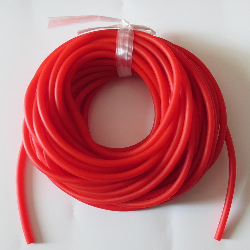 10 metra 1745 SLINGSHOT shirita gome katapultë me ngjyrë të kuqe të përdorura për xhirime me llastiqe O.D 4.5mm I.D 1.7mm