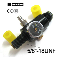4500PSI Air Tank Regulator Output Pressure 2200PSI Blk Paintball New