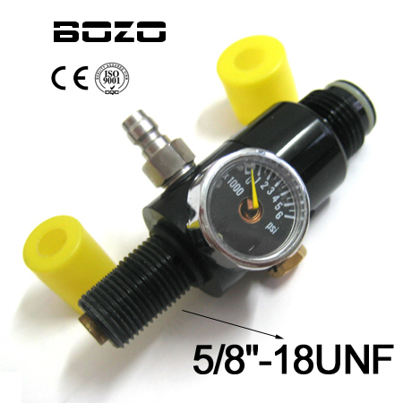 PCP Co2 Cylinder Paintball Marker 4500PSI Air Tank Compressed Air Regulator Output Pressure (2200PSI) 5/8