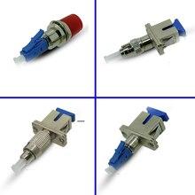 Conector de fibra óptica SC hembra a ST macho FC hembra a LC macho adaptador óptico SC hembra a LC macho acoplador de fibra óptica