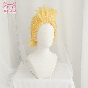 Image 2 - Аниме My Hero Academia Mirio Toogata Million, парик для косплея Boku No Hero Academia, большой 3 желтый парик Mirio Toogata