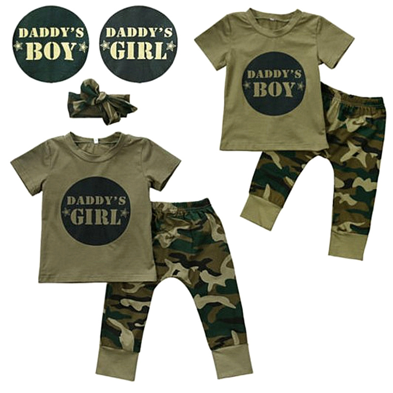 Baby Girls Boys Clothes Set 2018 New Summer Newborn Baby Girl Clothing Short Sleeve T Shirt Pant Toddler Camouflage Outfits Set newborn baby boy girl clothes set short sleeve top bodysuits leg warmer bow headband 3pcs clothing outfits set