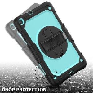 Image 3 - Caso para voor Samsung Galaxy Tab 10,1 2019 SM T510 SM T515 T510 híbrido armadura protectora caso con giratoria 360 soporte y