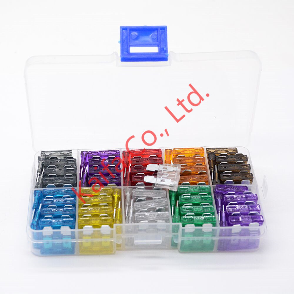 New Standard 100pcs/lots Auto Automotive Car Boat Truck Blade Fuse Box Assortment 2A 3A 5A 7.5A 10A 25A 30A dhl ems 5 lots new in box om ron e2e x4md1 m3g z e1