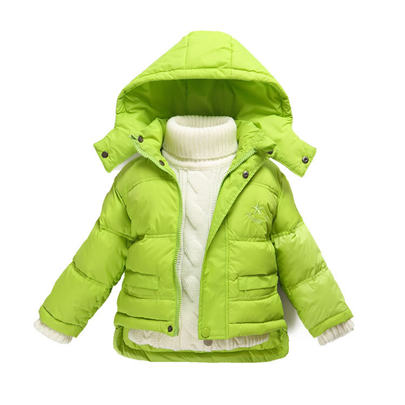 8f49d8590 Fashion 80% Eiderdown Baby Girl Winter Coat Newborn Snowsuit For ...