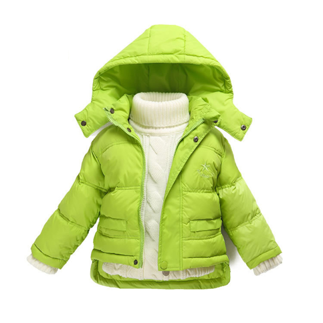 504f9236729a Fashion 80% Eiderdown Baby Girl Winter Coat Newborn Snowsuit For ...