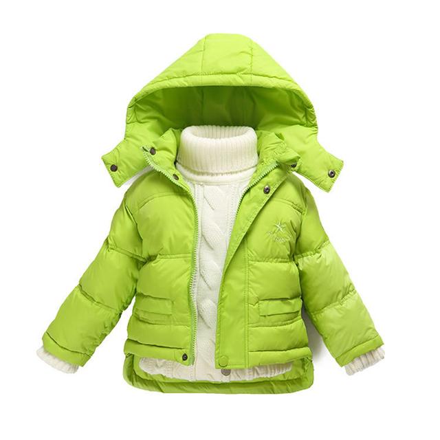 Moda 80% Edredón de Niña Abrigo de Invierno Recién Nacido Pato Abajo Prendas de Abrigo Traje Para La Nieve Para Niños Bebés Ropa Para Niños Chaquetas