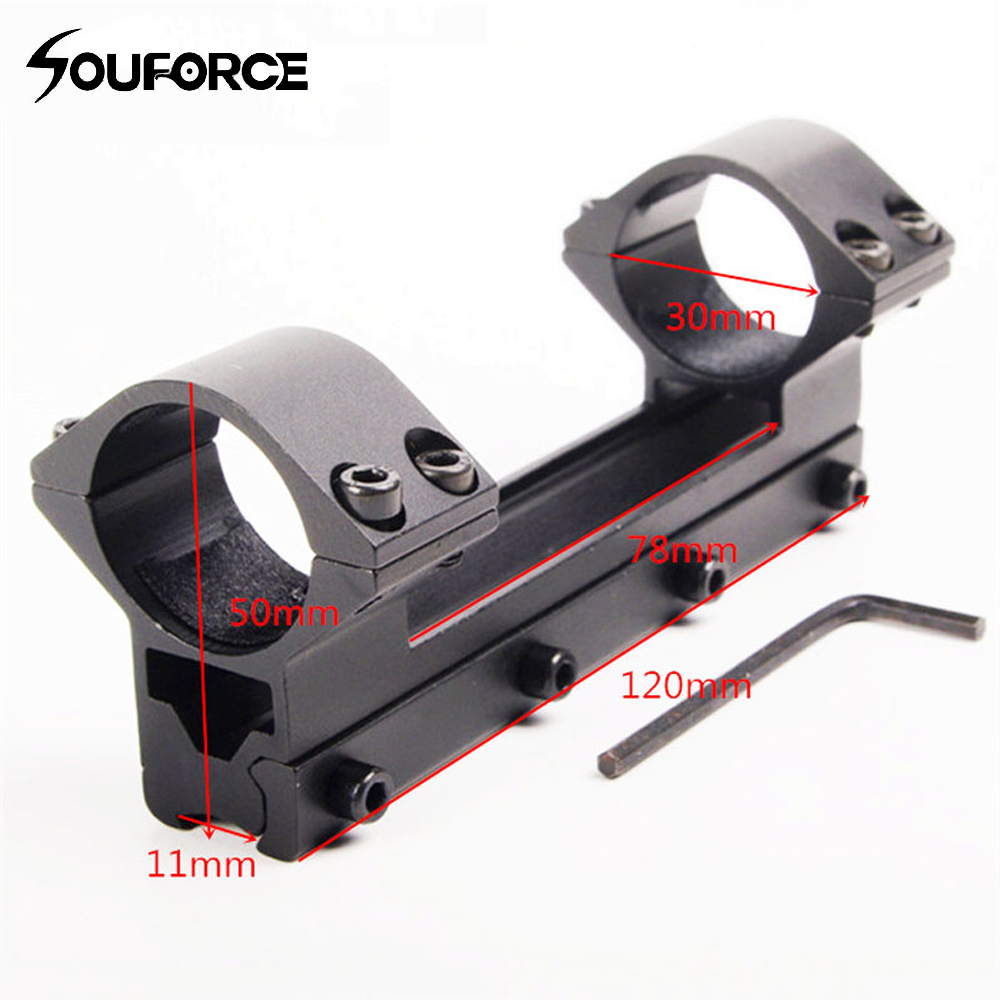 30mm Double Tube Higher Scope Mount High Profile Rings Dovetail 11mm Rail 120mm Length for Riflescope free shipping K