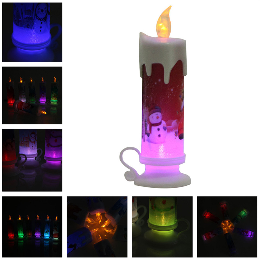 home decoration accessories Christmas Candle Electronic LED New Year Colorful Romantic Light Decor For Party room decoration