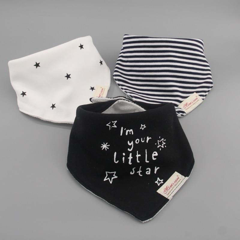 3pc/lot 100% Cotton Baby Boys And Girls Bibs Baby Towel Bandanas Scarf Children Cravat Infant Towel