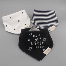 3pc/lot 100% cotton baby boys and girls bibs baby towel bandanas scarf children cravat infant towel(China)