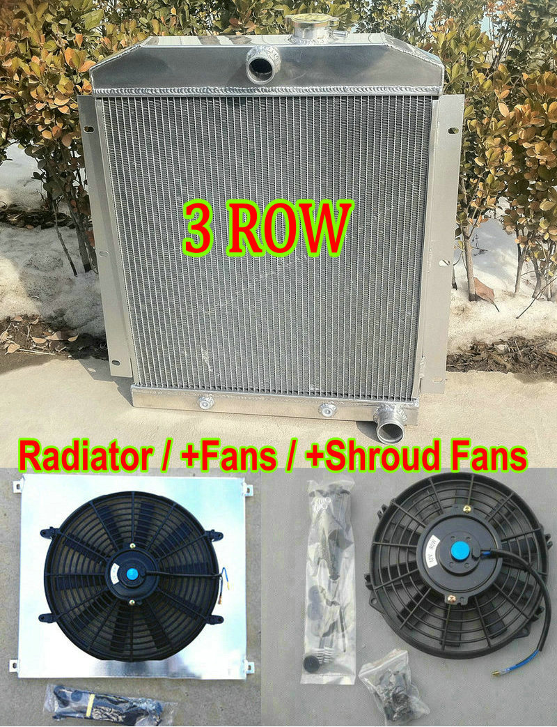 Aluminum Radiator for 1955-1959 CHEVY PICKUP TRUCK 3ROW Automatic/&Manual