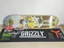 Mixed Brands Complete Skateboarding Set Pro Deck Trucks Wheels & Bearings Skate Plus Riser Pad Hardware Set & Installing Tool