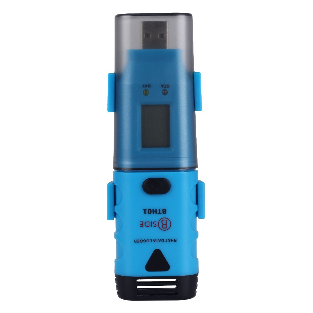 Bth01 temperature and humidity data recorder Continuous records for 3 years USB one-piece with display handheld professional humidity and temperature sd data logger with built in internal