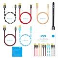 ICZI Micro USB Fast Charging Mobile Phone Cable Data Sync Cable 5V2A Micro USB Cable for Samsung HTC LG Android