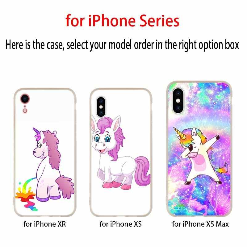 Для iphone X Case единорог Радуга с рисунком из мультфильма «Мой маленький пони» силиконовый чехол для телефона чехол для Apple iphone 4 5 5S SE 6 6s 7 8 Plus XR XS Max