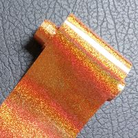 120M Holographic Gold Red Nail Foil Sticker Holo Starry Dust Nail Transfer Foil Full Cover Nail