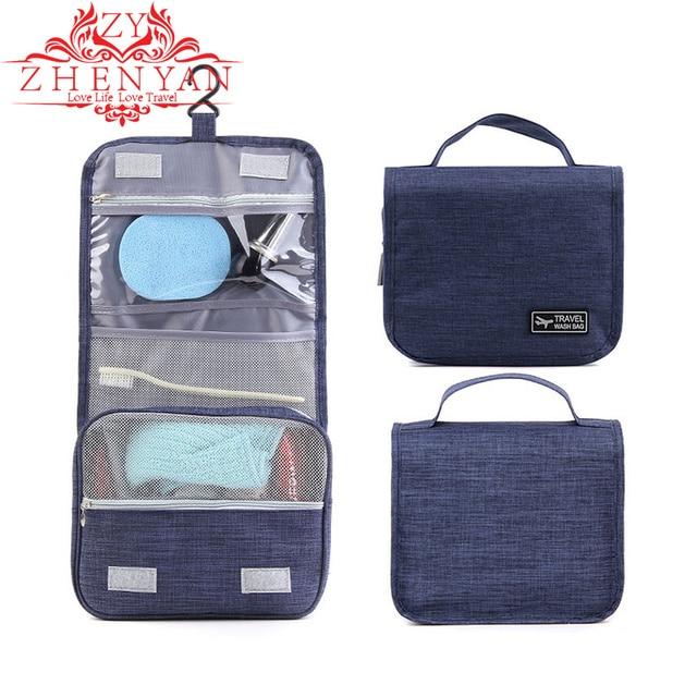 New Hanging Bathroom Bag For Make Up Cosmetics Toiletry Wash Supplies 2018  Girl Portable Travel Kit 8ec5159eddc2c