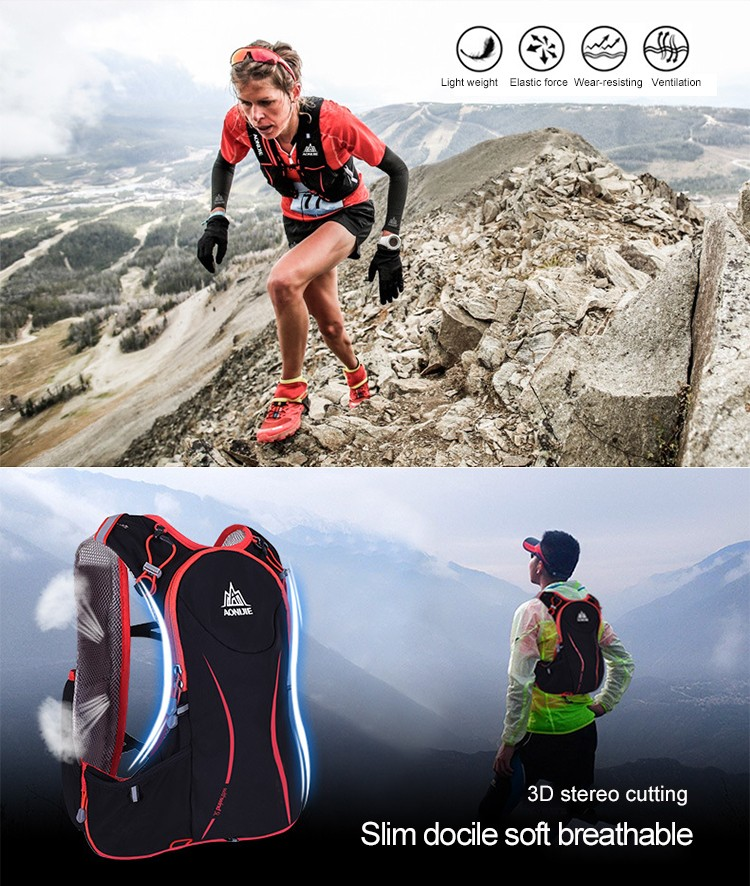 Foto breathable hydration vest pack for cycling. Outdoor hydration rucksack 1.5L for men